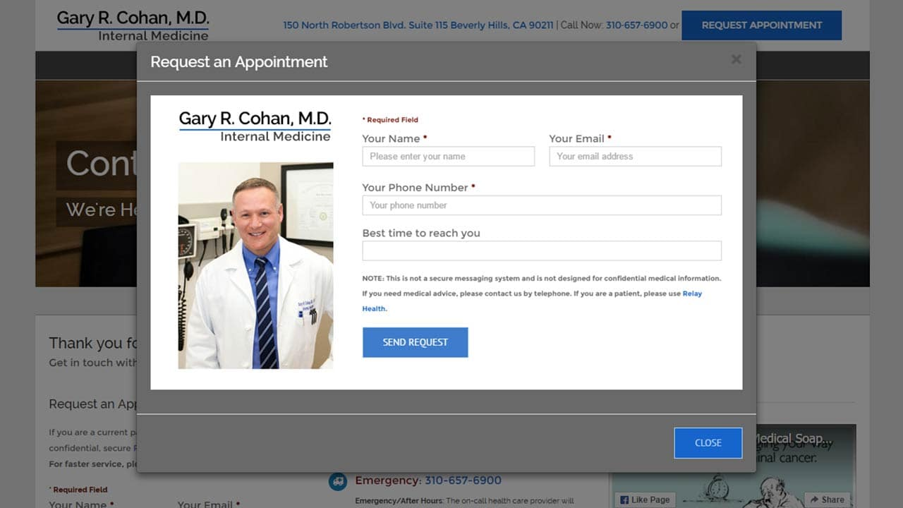 Dr. Cohan - Speed of Like website