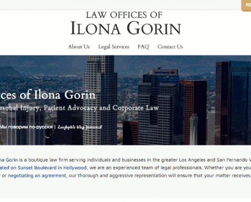 Web Design - Gorin Law Group Home Page